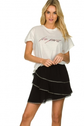 IRO |  Skirt with metal details Nicia | black