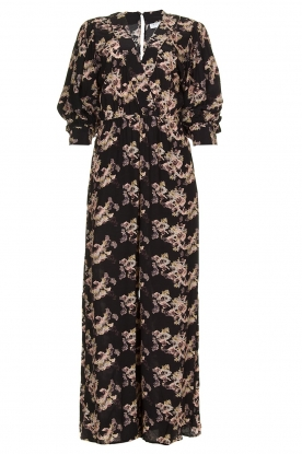 IRO |  Jumpsuit with flower print Mexi | black