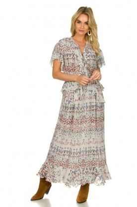 IRO |  Maxi dress with print Lanty | white