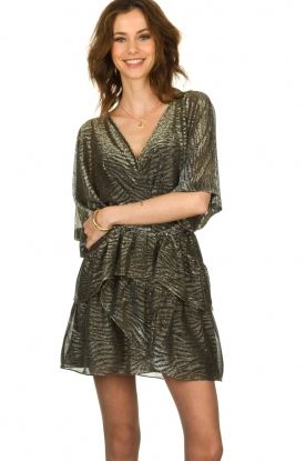 IRO |  Dress with lurex Wide | metallic