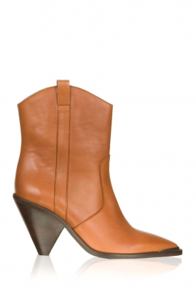 Toral | Leather boots with metal cap Elisio | camel