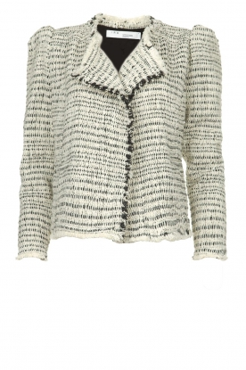 IRO | Bouclé blazer with shoulder padding Diana | naturel