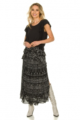 IRO |  Maxi skirt with ruffles Suma | black