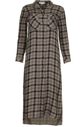 Bella Dahl | Plaid dress Mercury | grey