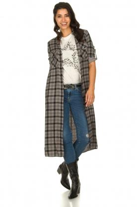 Bella Dahl |  Plaid dress Mercury | grey