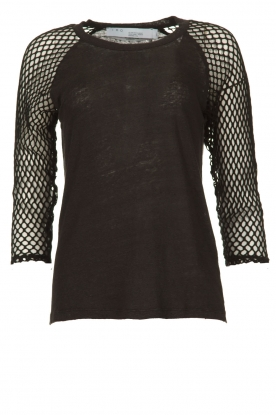 IRO |  Fishnet top Malala | black