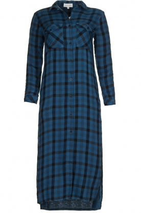 Bella Dahl | Ruitjes jurk Mercury | blauw