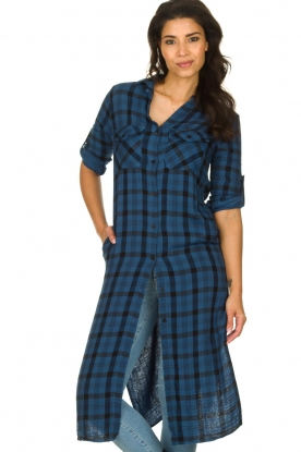 Bella Dahl |  Plaid dress Mercury | blue