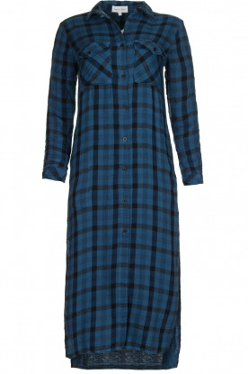 Bella Dahl |  Plaid dress Mercury | blue