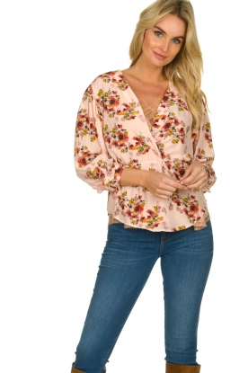 IRO |  Blouse with flower print Postie | nude