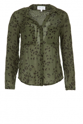 Bella Dahl |  Leopard printed blouse Hipster | green