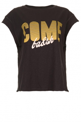 ba&sh |  T-shirt with text print Coby | black