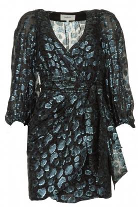 ba&sh |  Wrap dress with leopard print Ginger | blue