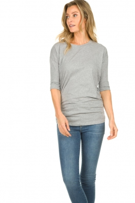 Les Favorites |  T-shirt with pleads Nathalie | grey