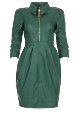 ELISABETTA FRANCHI |  Faux leather midi dress Tirza | green