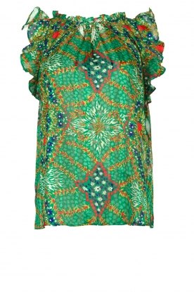 ba&sh |  Sleeveless top with print | green