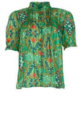 ba&sh |  Floral printed blouse Hippy | green