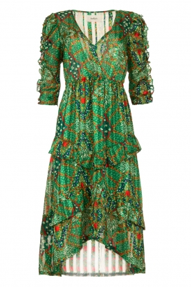 ba&sh |  Printed midi dress Happy | green