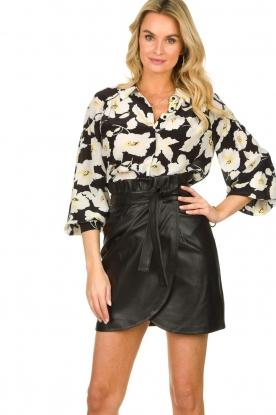 ba&sh    Leather wrap skirt Luna   black
