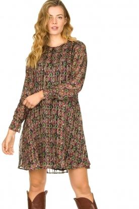 Freebird |  Lurex print dress Frida | multi