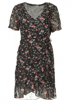 Freebird |  Floral wrap dress Rosy | black