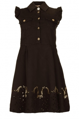 Fracomina | Dress with embroidery details Yip | black