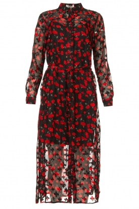 Freebird | Floral midi dress Helen | black