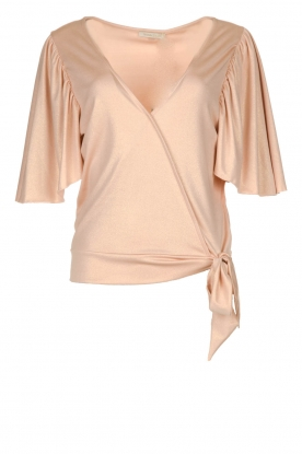 Fracomina |  Top with subtle shimmering Floortje | pink