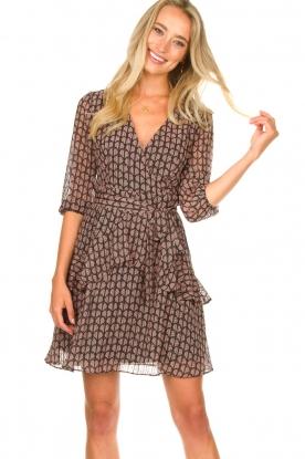 Freebird |  Printed wrap dress Lola | pink
