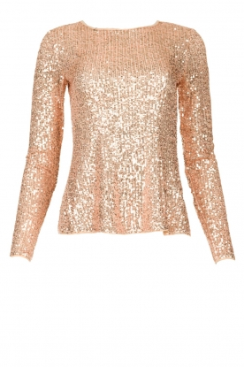 Fracomina |  Sequin top Angelia | nude