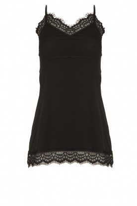 Fracomina | Sleeveless top with lace July | black