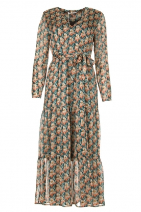 Freebird | Maxi dress with florals | Green