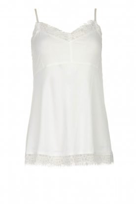 Fracomina | Sleeveless top with lace July | natural