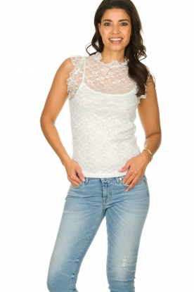 Fracomina |  Lace top July | white