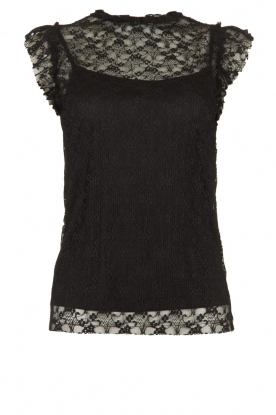Fracomina |  Lace top July | black