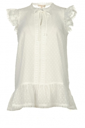 Fracomina |  See-through top with dots Veerle |  white
