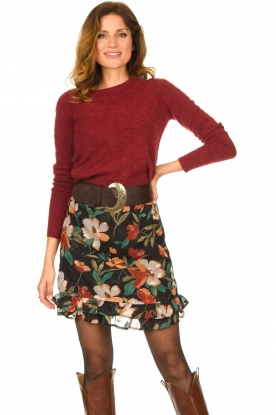 Freebird |  Floral skirt Femm | black