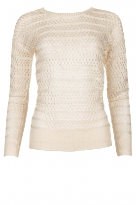 Fracomina | Ajour sweater Champagne | natural