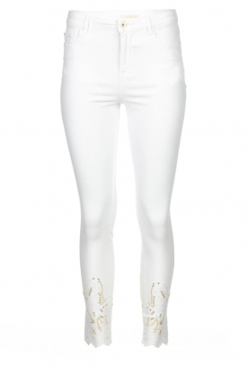 Fracomina | Jeans with lace Suzan | white