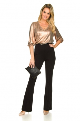 Fracomina | Trousers with belt Felicia | black