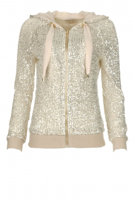 Fracomina | Sequin jacket Fraco | natural