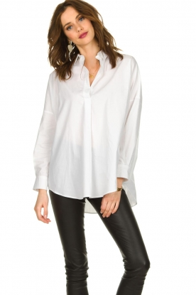 Set |  Wide blouse Donna | white