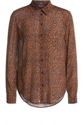 Set |  Blouse with leopard print Tigra | brown