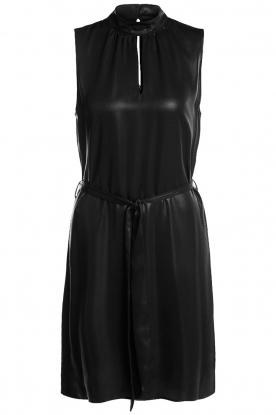 Set |  Shiny dress Ivy | black