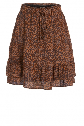 Set |  Skirt with leopard print Tigra | brown