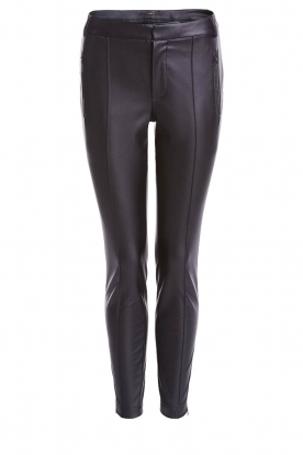 Set |  Faux leather pants Mirthe | black