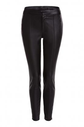 Set |  Faux leather pants Mirthe | black