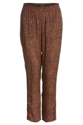 Set | Pants with leopard print Tigra | brown