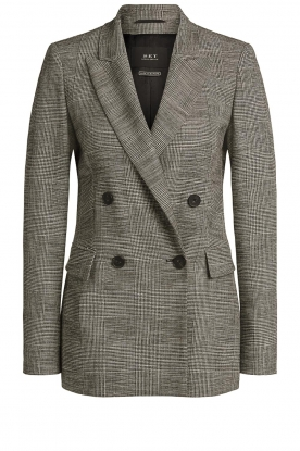 Set |  Checkered blazer Nina | grey