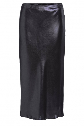 Set |  Shiny midi skirt  Sacha | black